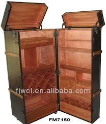 Trunk Bar Cabinet Pu Leather Wine Cabinet Trunk Bar Buy Steamer Trunk Bar Wine Bar