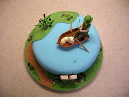 home design easy fishing cakes for men ideas cake designs for