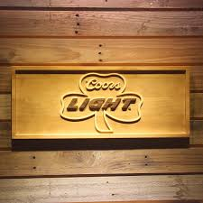 coors light bar sign coors light shamrock beer 3d wooden bar sign in plaques signs from