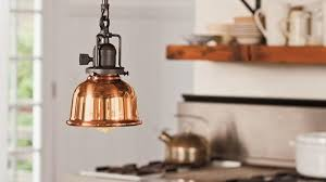 Led Light Fixtures For Kitchen Breathtaking Copper Kitchen Lighting Fixtures With Yellow Led