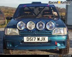 vintage peugeot cars peugeot 205 gti rally car rally cars for sale at raced u0026 rallied