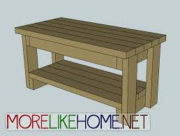 Plans For A Wooden Bench With Storage by More Like Home Day 9 Build A Bench With 2x4s