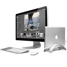desktop stand for macbook air pro vertical station display desk