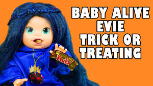 baby alive evie costume trick or treating for halloween with