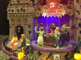 Lemax Halloween Houses by Review U2013 Lemax Halloween Party U2013 Spookyvillages Com
