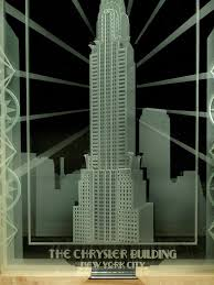 Art Deco Design Hand Crafted Chrysler Building Of New York City Art Deco Design