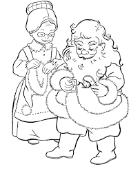 christmas coloring pages printable mrs claus and santa christmas