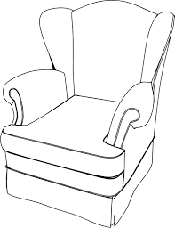 vclassic armchair classic armchair english coloring page wecoloringpage