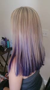 short hairstyles with peekaboo purple layer light blonde highlights with purple peekaboo underneath hair