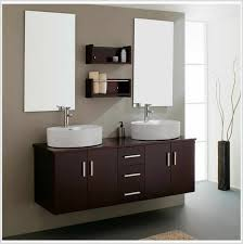 bathroom cabinets interior double rectangle mirror and brown