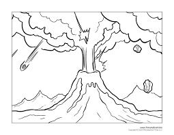 coloring pages volcano volcano coloring pages 2 free printable to print cooloring