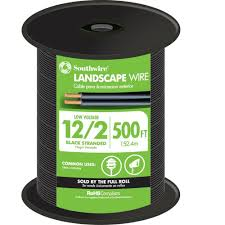 Connecting Landscape Lighting Wire - southwire 500 ft 12 2 black stranded low votlage landscape