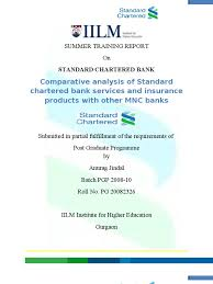 Standard Chartered Bank Anurag Project Report On Standard Chartered Transaction Account