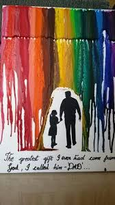 Dad Gift Ideas For Christmas - diy birthday gift for dad melted crayon art gifts for dad
