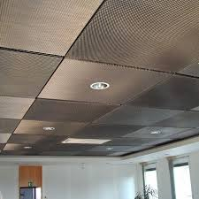 Ceiling Tile Light Fixtures Drop Ceiling Tile With Color Painted And Metallic Aluminum