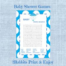 baby shower word search game boy baby shower crossword puzzle