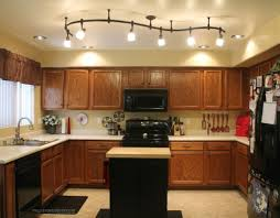 mesmerizing track led lighting idea for kitchen interior with