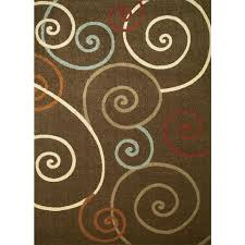 Concord Global Area Rugs Concord Global Trading Chester Scroll Brown 6 Ft 7 In X 9 Ft 3