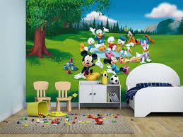 kids wall mural mickey mouse and friends fotomurales arte kids wall mural strawberry shortcake