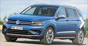 tiguan volkswagen 2015 2016 vw tiguan with angular styling rendering