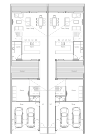 Narrow Lot Duplex Floor Plans by Duplex House Ch108d In Modern Contemporary Architecture For Very