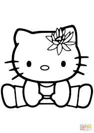 hello kitty gymnastics coloring page free printable coloring pages