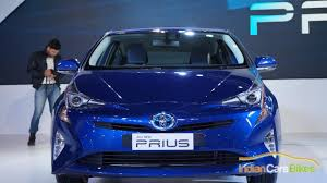 new toyota prius hybrid debuts at indian auto expo 2016 image gallery