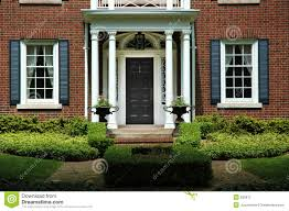 home entrance formal home entrance stock image image of brick house 925911