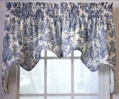 Blue Toile Curtains Ellis Curtain Park 2 Swag Empress