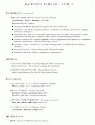 Sample Resume For Production Manager by Film Resume Template Best Photos Of Film Crew Resume Film Crew