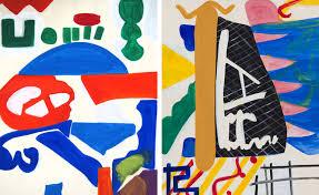 shirley jaffe u0027s mixed media at tibor de nagy in new york wallpaper