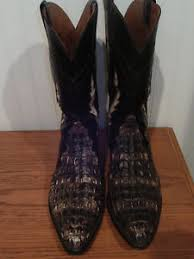 s boots size 12 black boots s custom alligator leather boots