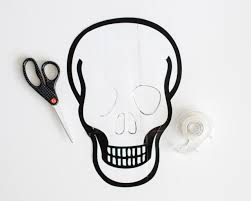 Halloween Skull Drawings Spooky Halloween Decorating Idea Diy Skull Art How Tos Diy