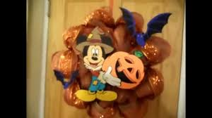 mickey mouse halloween decomesh wreath youtube
