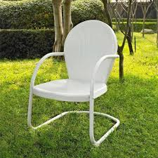 Retro Metal Patio Furniture - white outdoor metal retro vintage style chair patio furniture ebay