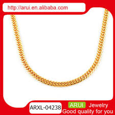 necklace gold chain design images Saudi gold set men fashion design simple gold chain necklace view jpg