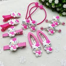 barrettes hair 10pcs set fashion hair clip children flower kawaii