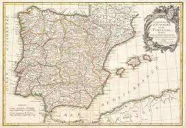 Maps Spain by File 1775 Janvier Map Of Spain And Portugal Geographicus