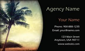 palm tree travel agency business card design 901121