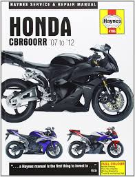 honda cbr600rr service and repair manual 2007 2012 haynes