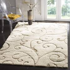 Plush Runner Rugs Safavieh Florida Douglas Floral Vines Shag Area Rug Or Runner