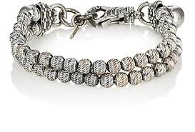 men jewelry bracelet images Emanuele bicocchi sterling silver beaded double strand bracelet jpg
