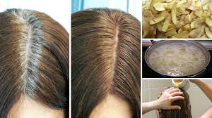 how to bring out the grey in hair get rid of gray hair naturally with potato skins youtube