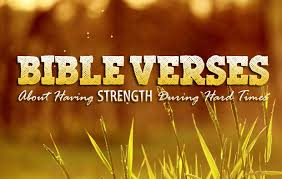 bible verses strength hard times