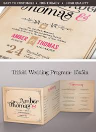 Vintage Wedding Programs 20 Elegant Wedding Program Templates