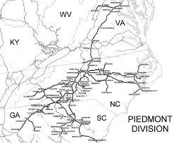 Camp Lejeune Map Norfolk Southern Piedmont Division Track Chart 2002 Railfandepot