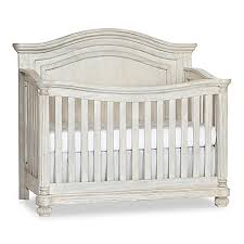 Charleston Convertible Crib Kingsley Charleston Crib In Weathered White Buybuy Baby
