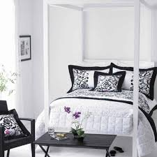 bedroom wrought iron canopy bed made of metal in black lacquer