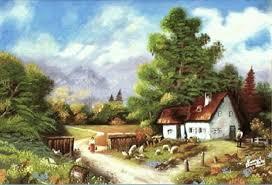 village scene sketch in watercolor google search drawing
