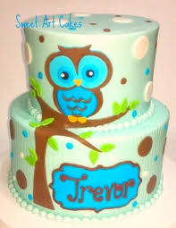 owl baby shower cake chattanooga cleveland dayton wedding birthday cakes
